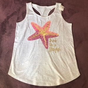 justice embellished starfish tank top